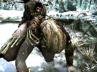 TESV SKYRIM: FUCKING A FEMALE GIANT DOGGYSTYLE!!..
