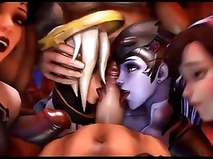 3D Overwatch HD Futanari POV Compilation 2017 -..
