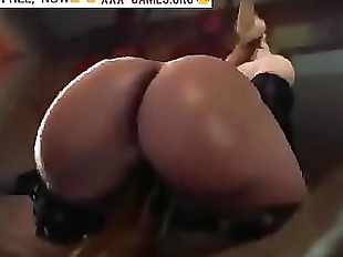 Big ass riding on black cock in crazy porn game!..