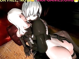 LESBIAN ANGELS IN PORN GAME