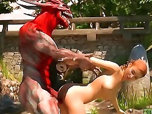 Pay the Toll. Monster porn 3D 2 min