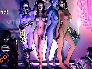 Mass Effect Girls Sexy Gifs 13 min 720p